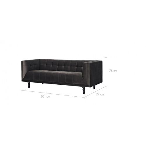 canap oxford 3 places en velours gris commandez nos canap s oxford 3 places en velours gris. Black Bedroom Furniture Sets. Home Design Ideas