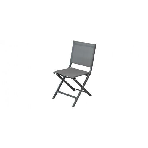chaise de jardin grise foncee