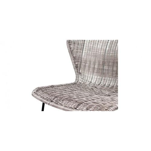 chaise mysore en r sine tress e gris fonc lot de 2 achetez les chaises mysore en r sine. Black Bedroom Furniture Sets. Home Design Ideas