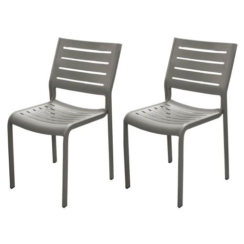 chaise isla taupe jardin