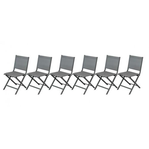 chaise jardin grise foncee prix bas