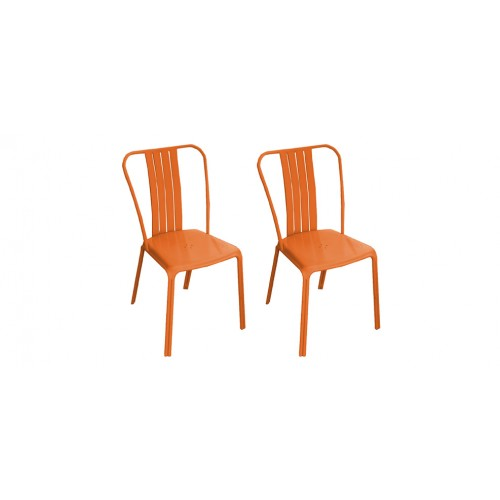 Chaise Jardin Metal Orange