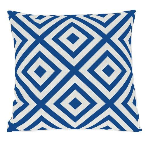 Coussin Géométrique bleu