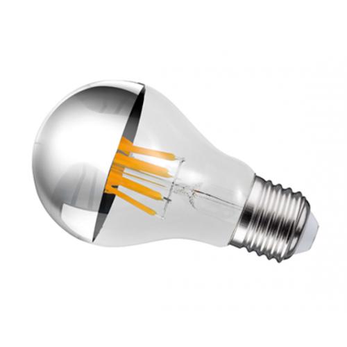 Ampoule LED à calotte chromée