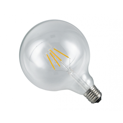 Ampoule globe LED transparente
