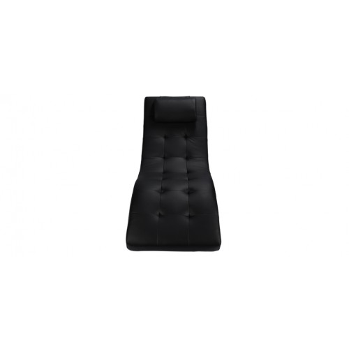 fauteuil cuir noir