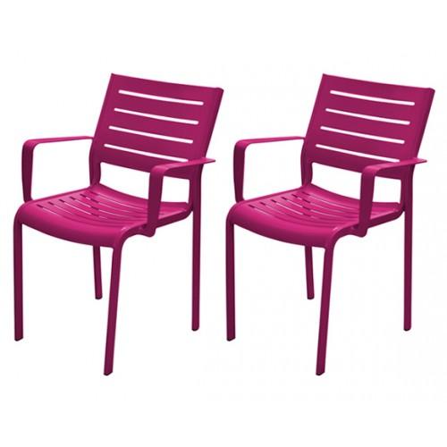 fauteuil isla prune prix bas