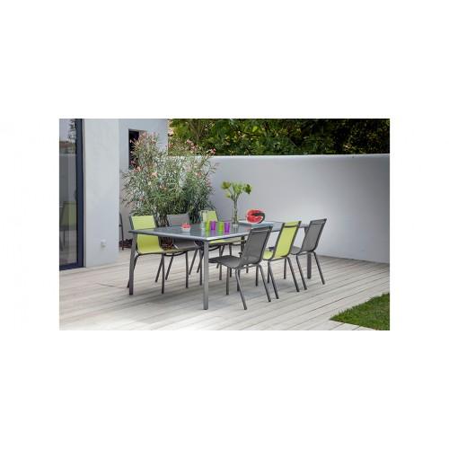 Table de jardin 180cm Livourne grise