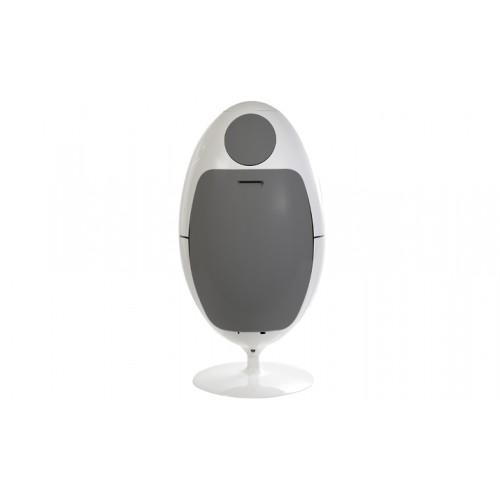 Poubelle Ovetto blanc et gris 01