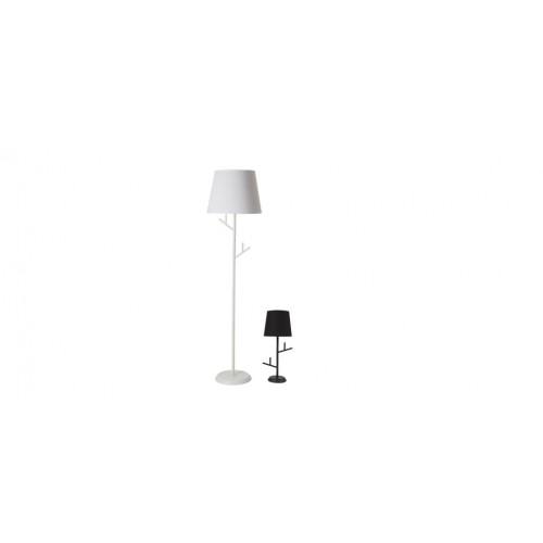 lampadaire blanc branche salon