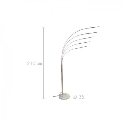 lampadaire led rh a chrome commandez nos lampadaires led. Black Bedroom Furniture Sets. Home Design Ideas