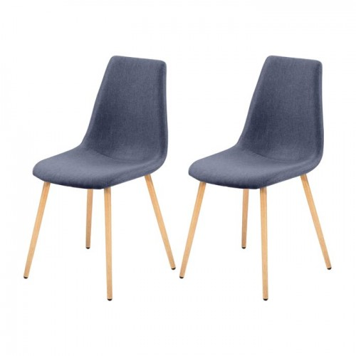 Chaise Aleksi bleu gris (lot de 2)