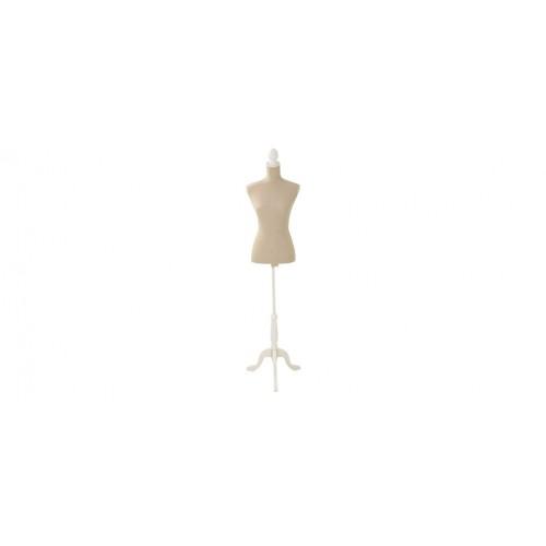 mannequin couture avec tissu beige