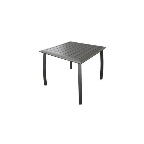 Table de jardin carrée 70cm Livourne grise