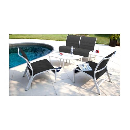 Salon de jardin Lagoon gris et blanc