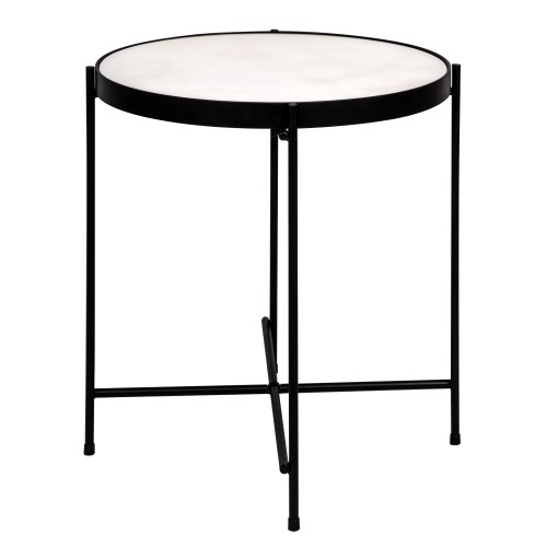 Table Basse Ronde Thilda Large Marbre Blanche