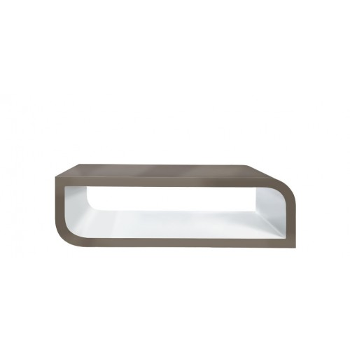 table basse taupe blanche design