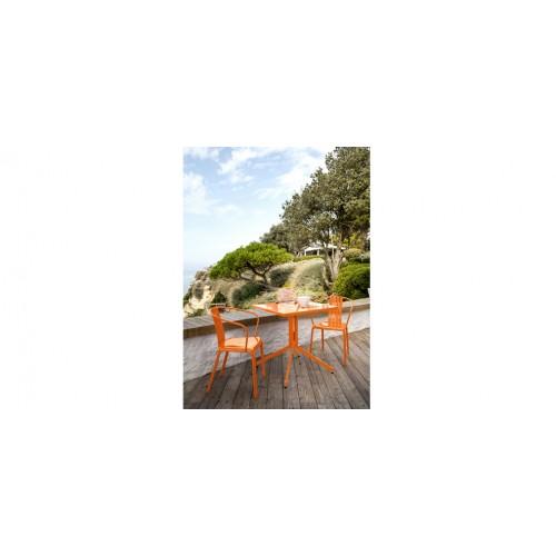 Table De Jardin 70cm Azuro Orange