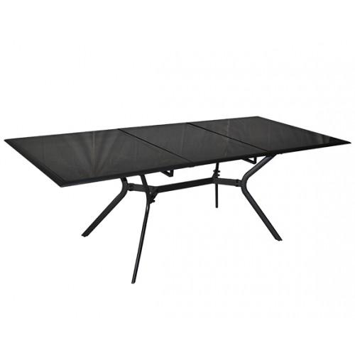 table de jardin grise design pour exterieur