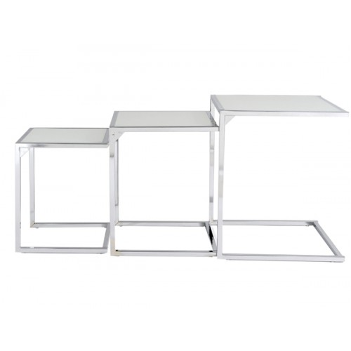 Table Basse Gigogne Blanche.Tables Basses Gigognes Blanches