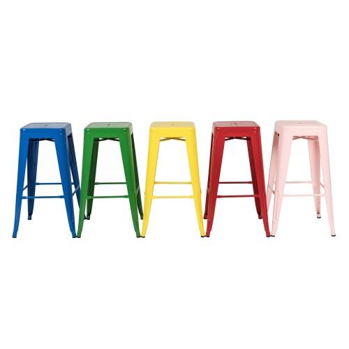 tabouret de bar indus bleu lot de 2 retrouvez nos tabourets de bar indus bleus rdv d co. Black Bedroom Furniture Sets. Home Design Ideas