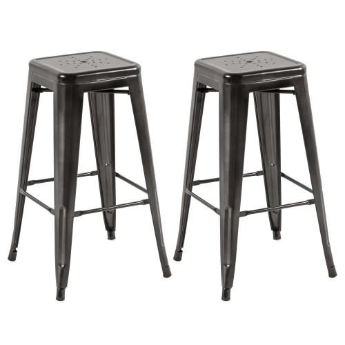 tabouret de bar indus anthracite