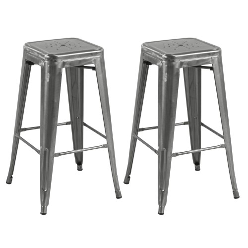 Tabouret de bar Indus chrome 74 cm (lot de 2)