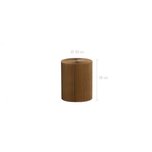 tabouret evora marron en carton tabourets evora marron en carton rdv d co. Black Bedroom Furniture Sets. Home Design Ideas