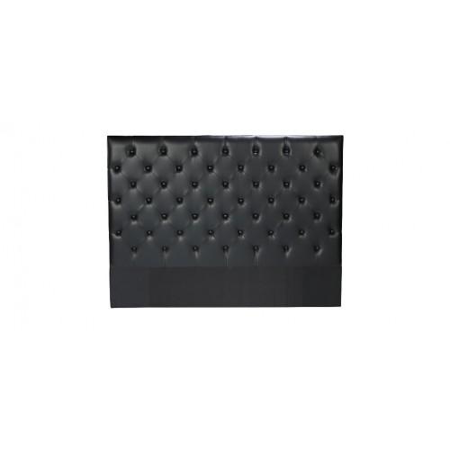 t te de lit chesterfield noire capitonn e pour lit 140 prix usine rdv d co. Black Bedroom Furniture Sets. Home Design Ideas