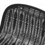 achat chaise de bar noire en resine design