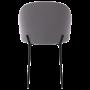 achat chaise en tissu gris fonce pieds noir
