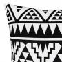 achat coussin noir et blanc ethnique