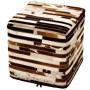 achat pouf cuir design carre