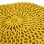 achat pouf jaune moutarde tricot design