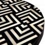 achat table basse noire et blanche ronde
