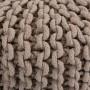 achat tabouret en tricot taupe pieds bois