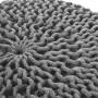 achat tabouret gris clair tricot