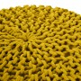 achat tabouret tricot jaune moutarde