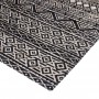 achat tapis confortable cuir noir blanc