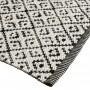 achat tapis confortable noir et blanc