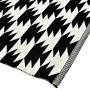 achat tapis pas cher noir et blanc