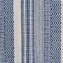 achat tapis rectangulaire bleu et blanc