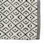 achat tapis rectangulaire noir et blanc