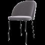 acheter chaise confort en tissu gris
