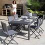 acheter chaise confortable exterieur grise