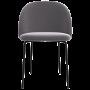 acheter chaise de repas en tissu gris fonce