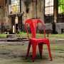 acheter chaise rouge industrielle