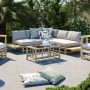 acheter table basse de jardin en teck design