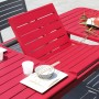 acheter table design en aluminium rouge