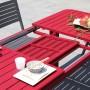 acheter table extensible rouge de jardin